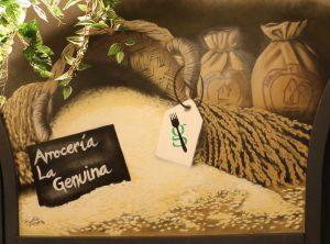 mural La Genuina Arroz y Tapas
